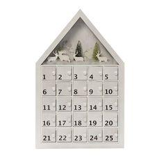 Martha Stewart Living 22 in. White Wood Mini Tree Diorama Advent Calendar-9262900410 - The Home Depot