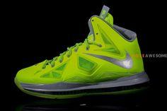 Nike LeBron X Volt/Wolf Grey-Pure Platinum
