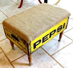 Pepsi Crate Footstool Storage Ottoman by Authentiques on Etsy, $59.99