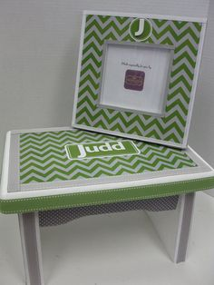 GIFT SET Little Boy's Bench and Frame Chevron by RibbonMade, $85.00