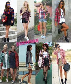 Streetstyle: camisas xadrez e suas variações ;)