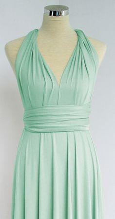 Convertible Infinity full ballgown length Maxi Wrap Bridesmaids Dress – lovespell convertible dresses
