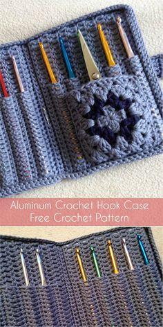 Aluminum Crochet Hook Case - Free Crochet Pattern #crochetaddict #freepattern #CrochetPatterns