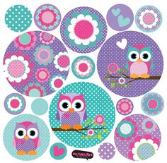Love this color palette Owl Clip Art, Owl Art, Creation Bougie, Owl Themed Parties, Owl Wallpaper, Owl Classroom, Diy And Crafts, Paper Crafts, Bird Party