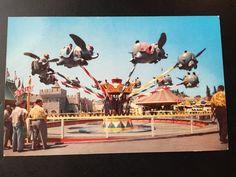 Vintage Disneyland Fantasyland Postcard - Dumbo Ride 1955 RARE by VintageDisneyana on Etsy