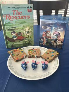 Devil's Bayou Blondies and Madame Medusa's Mice (Hershey Kisses) - The Rescuers Movie Night - Disney Movie Night - Family Movie Night - Rescuers Party Food