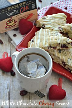 Celebrate each day with White Chocolate Cherry Scones and Bigelow Tea! #AmericasTea #SoFab #shop