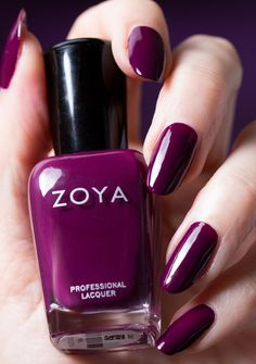 "Zoya Tara is described as a ""purple plum with a balanced tone between red and purple""."