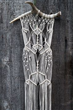 Macrame on gold tipped antlers