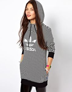 Asos carries Adidas, what? Adidas Striped Longline Sweatshirt
