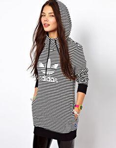 Asos carries Adidas, what? Adidas Striped Longline Sweatshirt