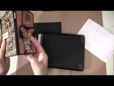 How to build a photo mini album with G45 Olde Curiosity Shoppe paper collection Part1 - YouTube
