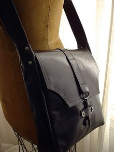 Brown Leather Steampunk Messenger with Antique by urbanheirlooms, $275.00
