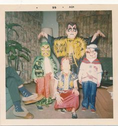 Kids vintage Halloween costumes.