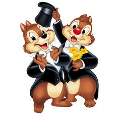 """Today in Disney History: Back in 1943, two nameless little chipmunks made trouble for Mickey's favorite friend in the toon """"Private Pluto."""" They would later be known as Chip & Dale."""