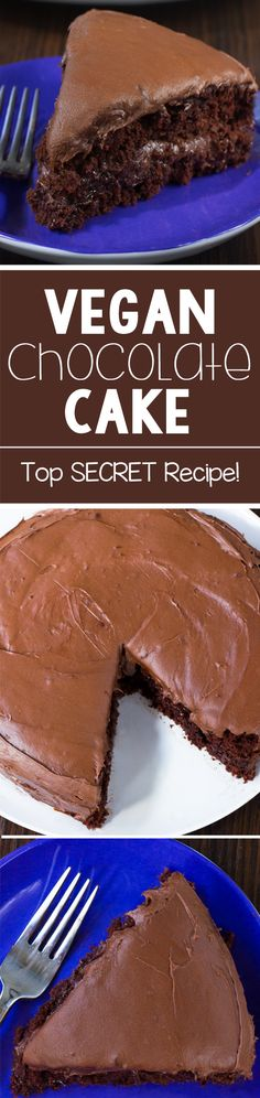 The Best Vegan Chocolate Cake Recipe Vegan Treats, Vegan Foods, Vegan Dishes, Best Vegan Chocolate, Chocolate Recipes, Chocolate Cake, Homemade Chocolate, Chocolate Covered, Vegan Dessert Recipes