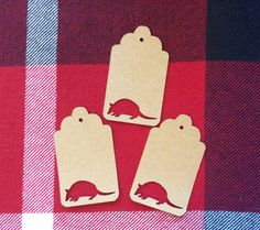 Die Cut Armadillo Tag by NatureCuts on Etsy