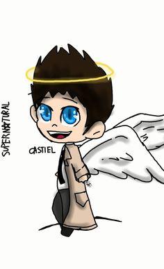Castiel supernatural TMCDDT art