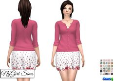 ae1e8ba0211 Sundress With Cardigan Sweater (30 Swatches) - created by NY Girl Sims  Sweaters