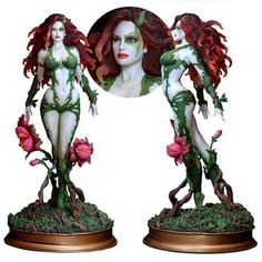 FANTASY-FIGURE-GALLERY-Luis-Royo-VARIANT-POISON-IVY-Statue-39-0F-500-DC-Comics
