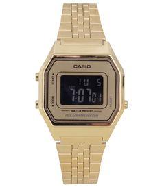 0bf3ba7cb94 Informações do Relógio Marca  Casio Estilo  Clássico Mecanismo  Digital  Modelo  LA680WGA 9BDF Gênero  Feminino Características Material da Caixa   Metal ...