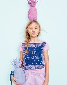 Two of our favorite crewcuts girls' things: glitter and graphics! Like sequin-covered flamingos, sparkly flower embroideries, London's Big Ben and peace, love and pizza.