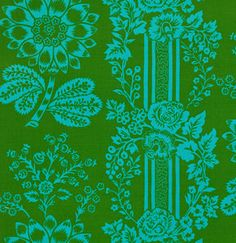 Laminated Cotton Fabric  Candice in Green by Sis by oilclothaddict