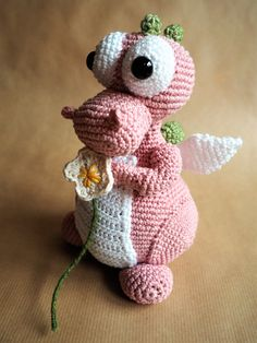 Fiona the Fairy Dragon.. Link does not go to pattern, but it is available on Ravelry.com