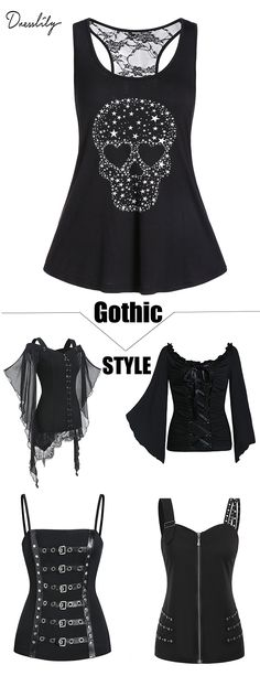 #dresslily #gothic #tops #fashion #outfits