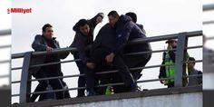 Cumhurbaşkanlığı Külliyesi önünde intihar girişimi: Cumhurbaşkanlığı Külliyesi önünde bulunan üst geçidin üstüne çıkarak intihar girişiminde bulunan şahıs, polisin müdahalesi sonucu köprü korkuluklarından indirildi.  Beştepe Caddesi Üstgeçit Köprüsü üstüne çıkarak intihar girişiminde bulunan K.M.D., polisi alarma geçirdi. Cumhurbaşkanlığı Külliye...
