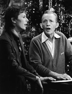 David Bowie and Bing Crosby sing 'Peace On Earth/The Little Drummer Boy', 1977.