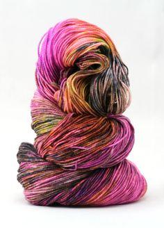 Hand dyed yarn 80 / 10 / 10% super wash Merino / by WrenHouseYarns