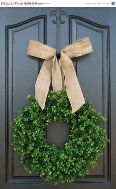 SUMMER WREATH SALE Summer Boxwood Wreath, Boxwood Wreath, Door Wreaths, Natural Looking Boxwood Wreath, Artificial Boxwood Wreaths