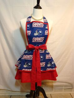 OMG I want this so badly!!! NFL New York Giants Womens Flirty Hostess team apron Any Team College team aprons