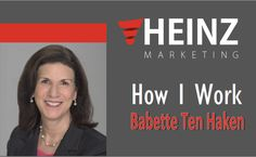 """How I Work"": Babette Ten Haken, Founder & President for Sales Aerobics for Engineers @babettetenhaken #HowIWork http://www.heinzmarketing.com/2017/02/how-i-work-8?utm_source=rss&utm_medium=Sendible&utm_campaign=RSS"