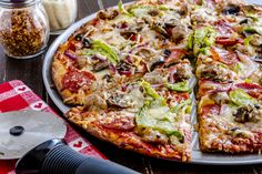 California Pizza Kitchen's Thin Crust Supreme with sausage & refrigerated thin crust pizz dough. Restaurant Style Pizza Recipe, Restaurant Recipes, Thin Crust Pizza, Pizza Dough, Supreme Pizza, California Pizza Kitchen, Cooking Recipes, Pizza Recipes, Great Recipes