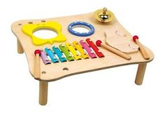 Wooden Music Table Xylophone Drum Symbol Noisy Musical Instrument Toy
