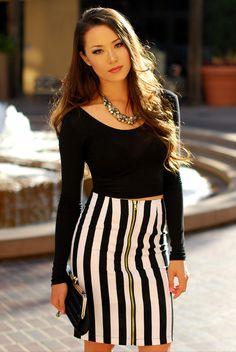 Hapa Time - Jailhouse Rock-ing the Spring 2013 Black and White Fashion Trend