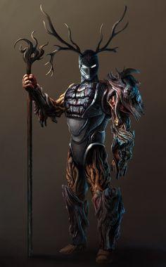 ArtStation - Warforged Druid Concept, Vaggelis Manousakas