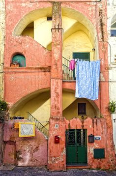 Houses in Procida, Italy