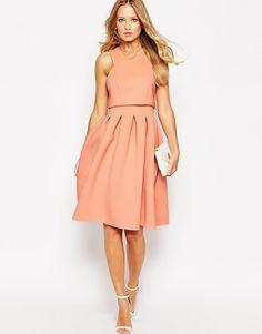 Image 4 ofASOS Debutante Crop Top Midi Scuba Dress