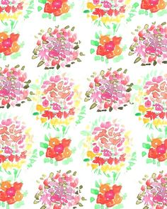 Abstract Floral Bouquet. #pattern #illustration #flowers