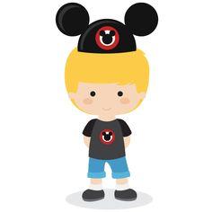 Mouse ear hat boy SVG file for scrapbooking.
