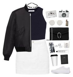 """""""And everybody around you is so basic"""" by bomlion ❤ liked on Polyvore featuring Elizabeth and James, Yves Saint Laurent, Vans, Gucci, Maison Margiela, L:A Bruket, Sagaform, FOSSIL, Casetify and Holga"""