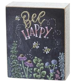 Bee Happy Be Happy Chalk Art Wooden Box Sign Chalk Art art Bee Box Chalk chalk art happy Sign wooden Summer Chalkboard Art, Chalkboard Doodles, Chalkboard Art Quotes, Chalkboard Decor, Chalkboard Drawings, Chalkboard Lettering, Chalkboard Designs, Chalk Drawings, Chalkboard Walls