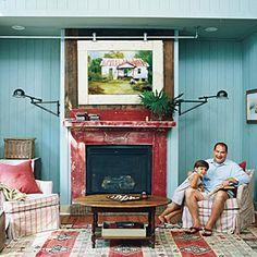 Country Cottage Relocation | Nostalgic Living Room | SouthernLiving.com
