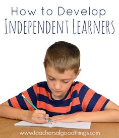 Being a veteran homeschooler, I shared tips that have proven to be successful to developing independent learners. How to Develop Independent Learners www.teachersofgoodthings.com