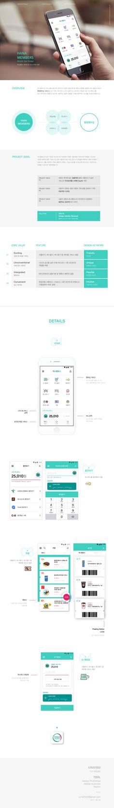 하나멤버스 공모전(2017)_Mobile App Project - 그래픽 디자인, UI/UX