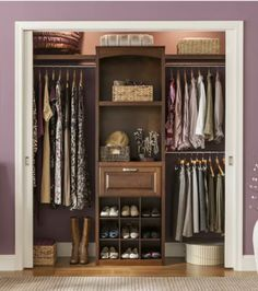 Lowes  Allen + Roth Wood Closet Kit   Hidden Sliding Doors This Is What We  Put In Our New Closets!