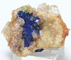 Rare Blue Mineral Linarite Lush Crystals by FenderMinerals on Etsy,